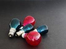 χρωματισμένο βολβοί φως Στοκ εικόνα με δικαίωμα ελεύθερης χρήσης