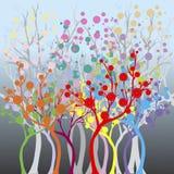 χρωματισμένο δάσος ελεύθερη απεικόνιση δικαιώματος