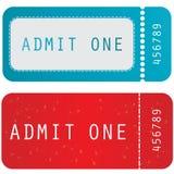 χρωματισμένο εισιτήριο Στοκ φωτογραφίες με δικαίωμα ελεύθερης χρήσης