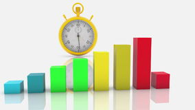 Χρωματισμένο επιχειρησιακό διάγραμμα με το χρονόμετρο με διακόπτη διανυσματική απεικόνιση