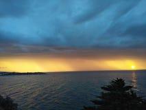 Χρωματισμένο ηλιοβασίλεμα Στοκ εικόνα με δικαίωμα ελεύθερης χρήσης