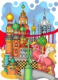 Χρωματισμένο η Αγία Πετρούπολη σχέδιο Στοκ εικόνα με δικαίωμα ελεύθερης χρήσης