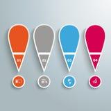 4 χρωματισμένο θαυμαστικό Mark Infographic Στοκ εικόνες με δικαίωμα ελεύθερης χρήσης