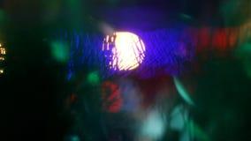 Χρωματισμένο θολωμένο περίληψη ελαφρύ υπόβαθρο στη νύχτα Lub κυκλικά φω'τα bokeh Ð ¡ εορταστικά απόθεμα βίντεο