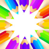 Χρωματισμένο διάνυσμα υπόβαθρο κύκλων μολυβιών Στοκ φωτογραφίες με δικαίωμα ελεύθερης χρήσης