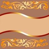 χρωματισμένο καφές πλαίσιο ελεύθερη απεικόνιση δικαιώματος