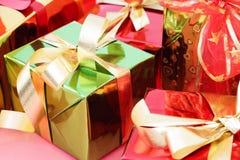 χρωματισμένο κιβώτια δώρο &pi Στοκ Εικόνες