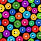 χρωματισμένο κουμπιά πρότυπο άνευ ραφής Στοκ εικόνα με δικαίωμα ελεύθερης χρήσης