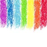 Χρωματισμένο κραγιόνι ουράνιο τόξο κρητιδογραφιών, εικόνα απεικόνιση αποθεμάτων