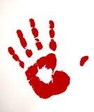 χρωματισμένο κόκκινο χερ&iot Στοκ Εικόνες