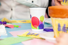 Χρωματισμένο κόμμα γυαλί Στοκ εικόνα με δικαίωμα ελεύθερης χρήσης