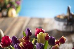 χρωματισμένο κύκλος Πάσχας διάνυσμα θέματος κειμένων αυγών eps10 διαστημικό σας Στοκ Φωτογραφίες