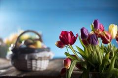 χρωματισμένο κύκλος Πάσχας διάνυσμα θέματος κειμένων αυγών eps10 διαστημικό σας Στοκ φωτογραφία με δικαίωμα ελεύθερης χρήσης