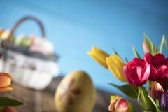 χρωματισμένο κύκλος Πάσχας διάνυσμα θέματος κειμένων αυγών eps10 διαστημικό σας Στοκ εικόνα με δικαίωμα ελεύθερης χρήσης