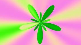 Χρωματισμένο λουλούδι μήκους σε πόδηα απεικόνιση αποθεμάτων