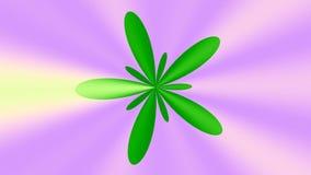 Χρωματισμένο λουλούδι μήκους σε πόδηα ελεύθερη απεικόνιση δικαιώματος