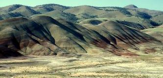 χρωματισμένο λόφοι τοπίο στοκ εικόνες