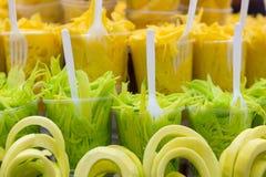Χρωματισμένο μίγμα νωπών καρπών στην Κολομβία Στοκ Φωτογραφίες