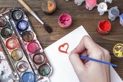 Χρωματισμένο μελάνι, γκουας Στοκ εικόνα με δικαίωμα ελεύθερης χρήσης