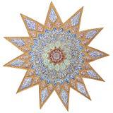 χρωματισμένο μοτίβο αστέρ&iota στοκ φωτογραφία με δικαίωμα ελεύθερης χρήσης