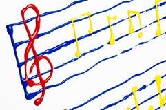 χρωματισμένο μουσική φύλ&lambda Στοκ εικόνες με δικαίωμα ελεύθερης χρήσης