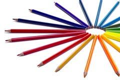 Χρωματισμένο μολύβι που απομονώνεται Στοκ φωτογραφία με δικαίωμα ελεύθερης χρήσης