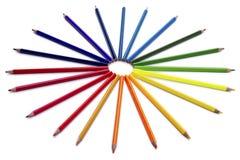 Χρωματισμένο μολύβι που απομονώνεται Στοκ εικόνα με δικαίωμα ελεύθερης χρήσης