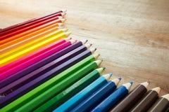 χρωματισμένο μολύβι Στοκ Εικόνες