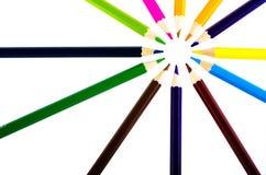 χρωματισμένο μολύβι Στοκ εικόνα με δικαίωμα ελεύθερης χρήσης