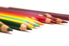 Χρωματισμένο μολύβι στοκ εικόνες με δικαίωμα ελεύθερης χρήσης