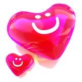 χρωματισμένο μπαλόνι κόκκινο καρδιών διανυσματική απεικόνιση