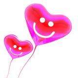 χρωματισμένο μπαλόνι κόκκινο καρδιών απεικόνιση αποθεμάτων