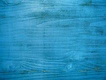 Χρωματισμένο μπλε ξύλινο υπόβαθρο Στοκ Εικόνα