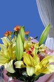χρωματισμένο μπουκέτο λουλουδιών Στοκ Εικόνες