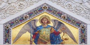 Χρωματισμένο μωσαϊκό του ST Michael Στοκ φωτογραφίες με δικαίωμα ελεύθερης χρήσης