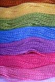 χρωματισμένο νήμα Στοκ φωτογραφία με δικαίωμα ελεύθερης χρήσης