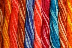 χρωματισμένο νήμα Στοκ Φωτογραφία