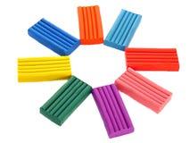 χρωματισμένο παιδιά plasticine s στοκ εικόνες