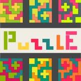 Χρωματισμένο παιχνίδι γρίφων παραλλαγές απεικόνιση αποθεμάτων