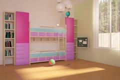 χρωματισμένο παιδιά δωμάτι&om Στοκ Φωτογραφίες