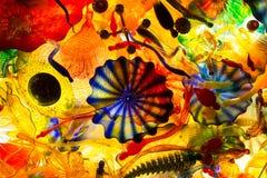 Χρωματισμένο περίληψη γυαλί Στοκ φωτογραφίες με δικαίωμα ελεύθερης χρήσης