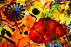 Χρωματισμένο περίληψη γυαλί Στοκ εικόνα με δικαίωμα ελεύθερης χρήσης