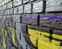 Χρωματισμένο περίληψη σχέδιο Στοκ Φωτογραφίες