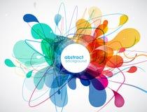 Χρωματισμένο περίληψη υπόβαθρο με τις μορφές απεικόνιση αποθεμάτων