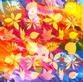 Χρωματισμένο περίληψη υπόβαθρο με το φύλλο Στοκ φωτογραφίες με δικαίωμα ελεύθερης χρήσης
