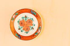 Χρωματισμένο πιάτο Στοκ εικόνες με δικαίωμα ελεύθερης χρήσης