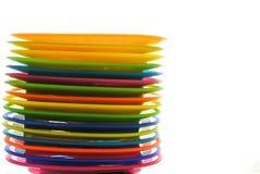 χρωματισμένο πλαστικό σύν&omicro Στοκ Εικόνες