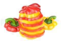 χρωματισμένο πολυ πιπέρι Στοκ Φωτογραφία