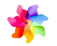 χρωματισμένο πολυ pinwheel Στοκ Εικόνες