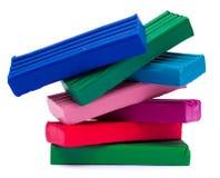 χρωματισμένο πολυ plasticine Στοκ Εικόνες